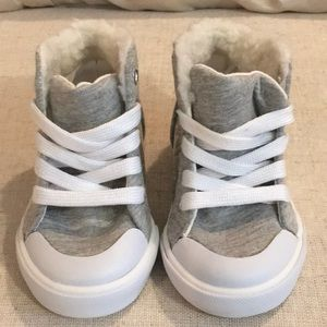 NWT Gymboree ICE DANCER Silver Glitter High Tops Sneakers Girls Size 8